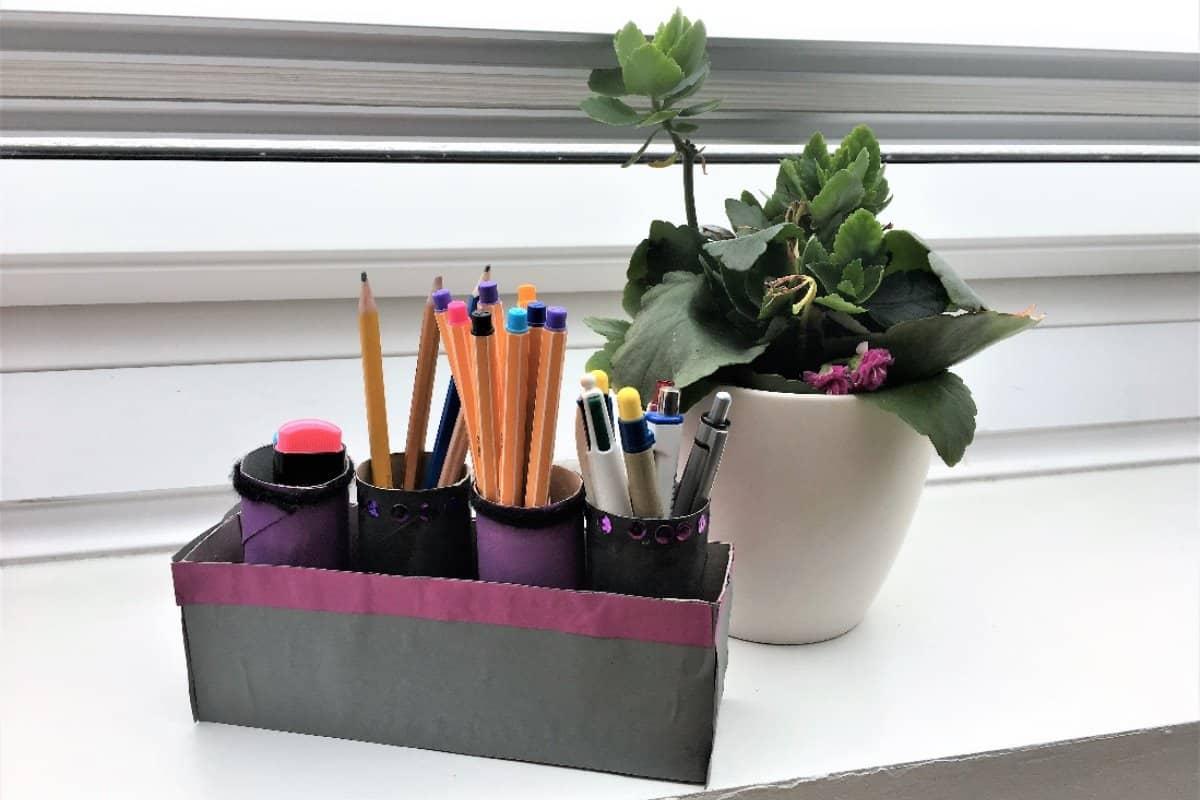 Diy Ideen Fur Ordnung Am Schreibtisch